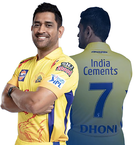 CHENNAI SUPER KINGS OFFICIAL 2020 PLAYER JERSEY HALF SLEEVE